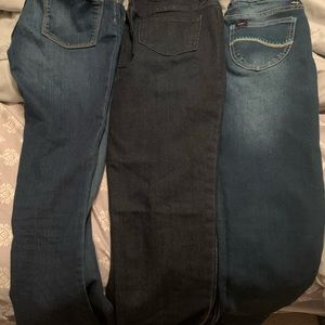 Three pair of size 14 jeans